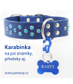 Karabinka na psí známku - černá