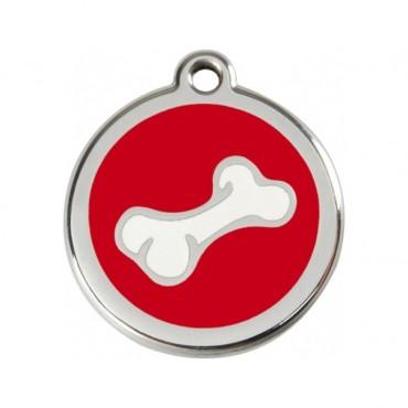 Malá známka pro psa  Red Dingo - kost červená