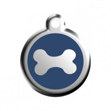 Malá známka pro psa  Red Dingo - kost modrá