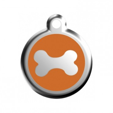Malá známka pro psa Red Dingo - kost oranžová