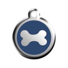 Známka na psa Red Dingo - kost modrá
