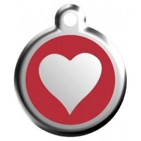 Malá známka pro psa  Red Dingo - červené srdce