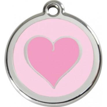 Malá známka pro psa  Red Dingo - růžové srdce