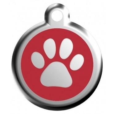 Malá známka pro psa  Red Dingo - červená tlapka