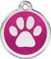 Malá známka pro psa  Red Dingo - třpytivá růžová tlapka