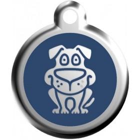 Střední 30 mm velká identifikační tagiska pro středně velkého a velkého psa Red Dingo - pes modrý