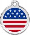 Střední známka pro psa Red Dingo - USA