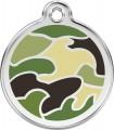 Střední známka pro psa Red Dingo - zelená vojenská kamufláž