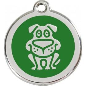 Velká identifikační tagiska pro velkého psa Red Dingo - pes zelený s gravírováním na míru