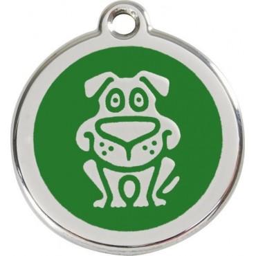 Velká známka pro psa Red Dingo - pes zelený