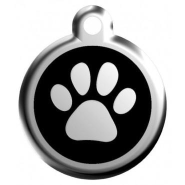Velká známka pro psa  Red Dingo - tlapka černá
