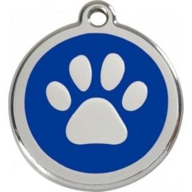 Velká cedulka s rytím pro velké psy - Red Dingo symbol modrá tlapka