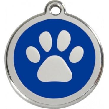 Velká známka pro psa Red Dingo - tlapka modrá