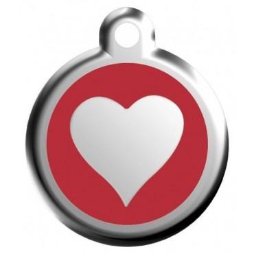Velká známka pro psa  Red Dingo - srdce červené