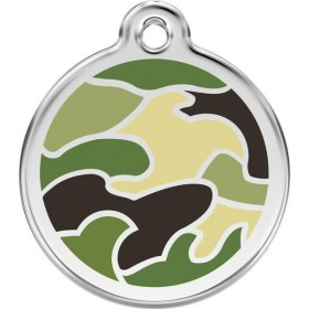 Velká známka pro psa Red Dingo - zelená vojenská kamufláž