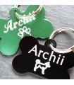 Hliníkové psí známky pro psa v černé a zelené barvě s rytím textu na míru