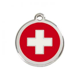 Identifikační známka pro kočku Red Dingo - Red Cross