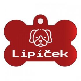 Hliníková známka pro psa s rytinou dle Vašeho návrhu, který si vytvoříte na stránce produktu