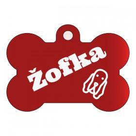 Známka s rytím pro fenku Žofku dle vlastního online návrhu