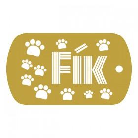Vojenská psí známka s gravírováním textu a grafiky na míru dle vlastního návrhu