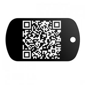 Psí známka s QR kódem, který  si snadno vytvoříte vložením textu přímo na eshopu www.petway.cz