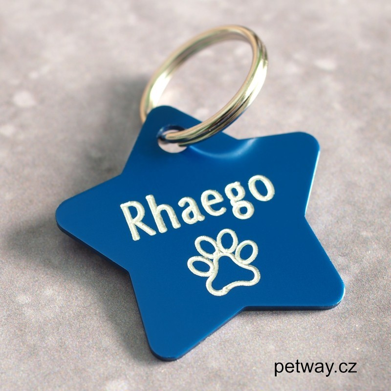 Hliníkové id známky pro psa s rytím