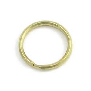 Klíčový kroužek mosazný, průměr 18 mm, zlatá barva