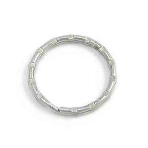 Klíčový kroužek ozdobný, průměr 22 mm, stříbrná barva